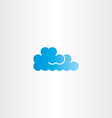 blue cloud icon logo element vector image