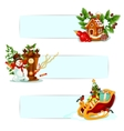 Christmas and New Year winter holidays banner set vector image