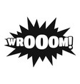 comic boom sticker icon simple black style vector image