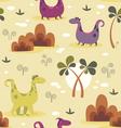 Dinosaurs cartoon seamless pattern vector image