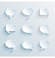 empty paper white speech bubbles vector image