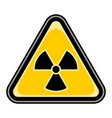ionising radiation sign triangular sticker vector image