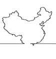 map of china continous line vector image