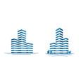 modern city skyscraper logo construction vector image