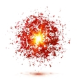 Red explosion isolated on white background vector image