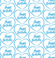 Seamless pattern with blue hearts on a white vector image