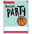 Basketball Party Flyer vector image vector image