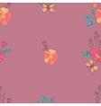 Floral Seamless Vintage Wildflowers Pattern vector image