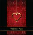 Elegant classic valentines day background vector image