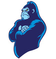 crossed arm gorilla vector image