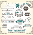 doodles-banners-ribbons-and-awards vector image