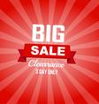 Big sale red color burst background vector image