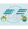 Concept social network Sharing information vector image