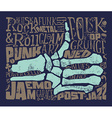Print for T-shirt Rock music Grunge vector image vector image