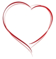 Heart shape symbol of love Heart for greeting vector image