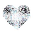 Multicolor dots heart icon vector image