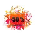 Autumn Sale -50 Discount Grunge Banner vector image vector image