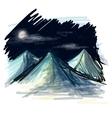 Night landscape sketch vector image vector image