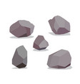 big rock stone cartoon in isometric 3d flat style vector image