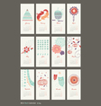 calendar 2014 cute patterns vector image