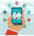 global business app vector image vector image