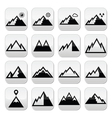 Mountains buttons set vector image