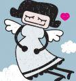 shy angel vector image