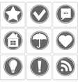 Simple Monochrome Icon vector image