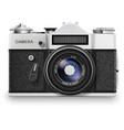Old photo camera vector image