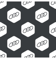 Black hexagon chain pattern vector image