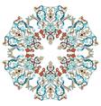 Antique ottoman turkish pattern design twenty two vector image