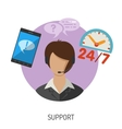 Support Flat Icon vector image vector image