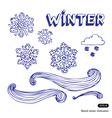 Winter elements set vector image vector image