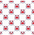 Cute crabs pattern vector image