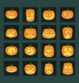 Jack-o-lanterns vector image