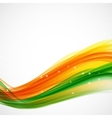 Abstract Green and Orange Wave on White Background vector image