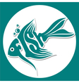 animals logo fish vector image