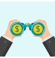Businessmen find money vector image