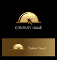 food online tray delivery gold logo vector image