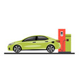 gas station refueling a car vector image