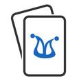 joker gambling cards flat icon vector image