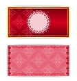 lace template invitation card vector image