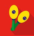 maracas cartoon flat icon brazil vector image