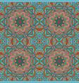 Seamless floral ethnic motives mandala zentangl vector image