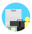 tax return icon flat style vector image