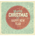 vintage greeting christmas card vector image