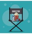 director chair movie film cinema icon vector image