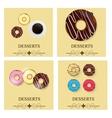 Set of the dessert menu vector image vector image