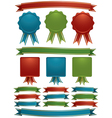 ribbons and emblems vector image vector image