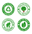 set of grunge eco stamps green vector image vector image
